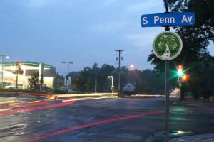 Armatage sign on Penn